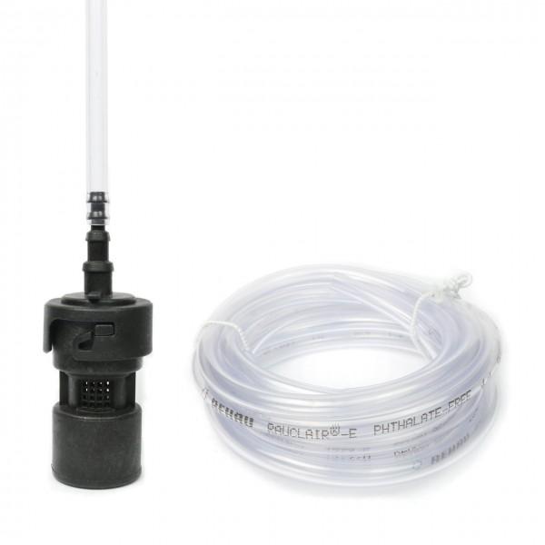 PP Fußfilter / Fußventil - Set mit 2m PVC Saugleitung